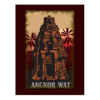 Vintage Angkor Wat Tarjetas Postales