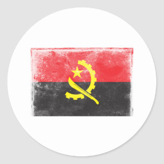 Vintage Angola Classic Round Sticker