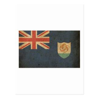 Vintage Anguilla Flag Postcard