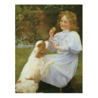 Vintage Animal Art, Pleasures of Hope by Gore Postcard