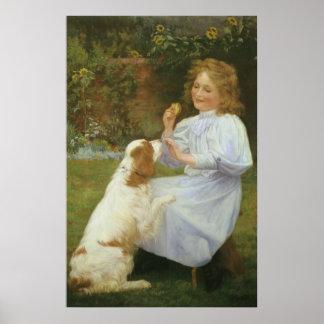 Vintage Animal Art, Pleasures of Hope by Gore Poster