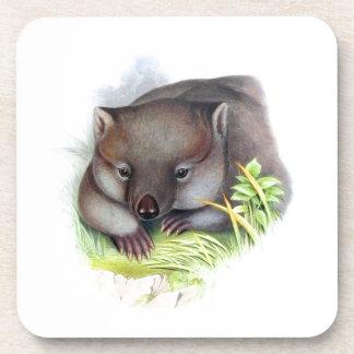 Vintage animal australiano impresionantemente lind posavasos de bebida