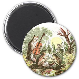Vintage Animal Band 2 Inch Round Magnet