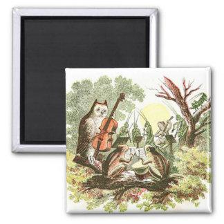 Vintage Animal Band 2 Inch Square Magnet