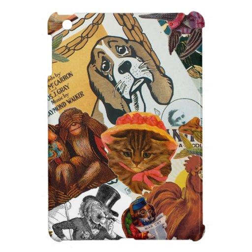 Vintage Animal Collage iPad Mini Cases
