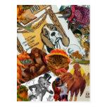 Vintage Animal Collage Post Cards