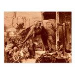 Vintage animal de Meyerheim del elefante de los 18 Tarjeta Postal
