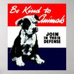 Vintage Animal Kindness Poster