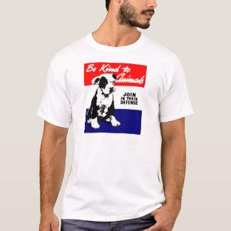Vintage Animal Kindness Poster T-Shirt