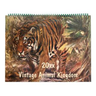 Vintage Animal Kingdom, Jungle and Forest Creature Calendar