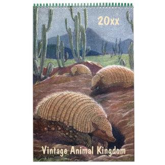 Vintage Animal Kingdom, Jungles Deserts Forests Calendar