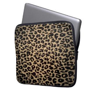 Vintage Animal print fur of leopard Computer Sleeve