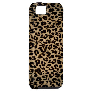 Vintage animal print texture of leopard iPhone SE/5/5s case