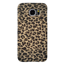 Vintage animal print texture of leopard samsung galaxy s6 case