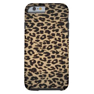 Vintage animal texture of leopard tough iPhone 6 case