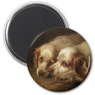 Vintage Animals, Cute Pet Spaniel Puppy Dogs Magnet