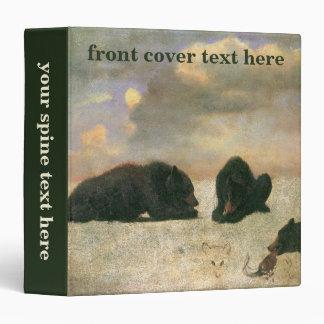 Vintage Animals, Grizzly Bears by Albert Bierstadt Binder