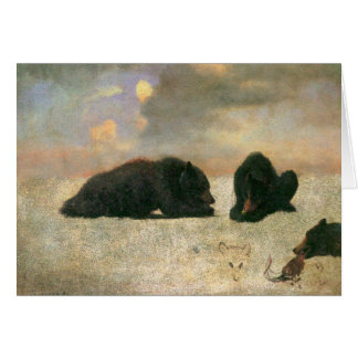 Vintage Animals, Grizzly Bears by Albert Bierstadt Greeting Card
