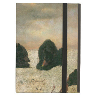 Vintage Animals, Grizzly Bears by Albert Bierstadt iPad Air Cover