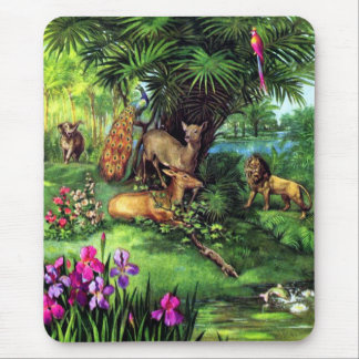 Vintage Animals Mouse Pad