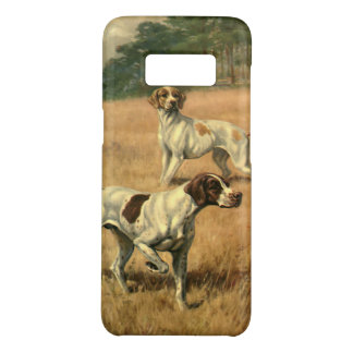 Vintage Animals, Pointer Dogs Hunting in a Field Case-Mate Samsung Galaxy S8 Case