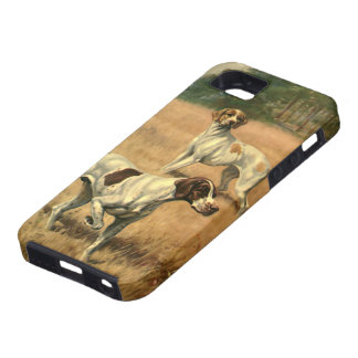 Vintage Animals, Pointer Dogs Hunting in a Field iPhone SE/5/5s Case