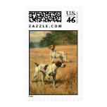 Vintage Animals, Pointer Dogs Hunting in a Field Stamps