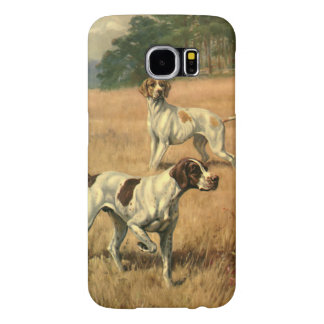 Vintage Animals, Pointer Dogs Hunting in a Field Samsung Galaxy S6 Case