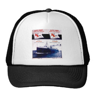 Vintage Ann Arbor Railroad Car Ferry Lake Michigan Trucker Hat