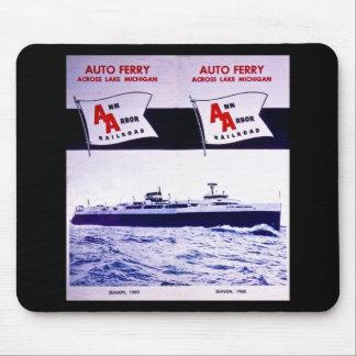 Vintage Ann Arbor Railroad Car Ferry Lake Michigan Mouse Pad