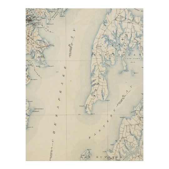Vintage Annapolis MD & Chesapeake Bay Map (1902) Poster | Zazzle.com