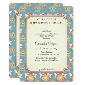 Vintage Anne Classic Story Baby Shower Invitation