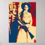 Vintage Annie Oakley Oil Grunge Canvas Print