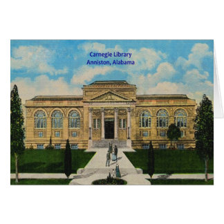 Vintage Anniston, Alabama Carnegie Library Greeting Card