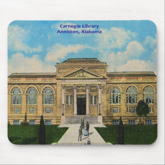 Vintage Anniston, Alabama Carnegie Library Mouse Pad