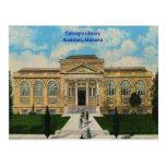 Vintage Anniston, Alabama Carnegie Library Postcard