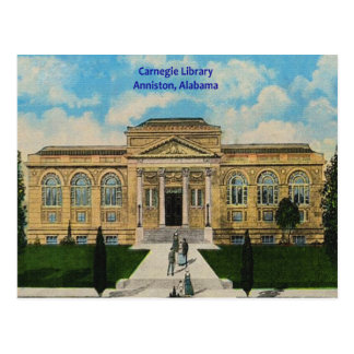 Vintage Anniston, biblioteca de Alabama Carnegie Tarjeta Postal