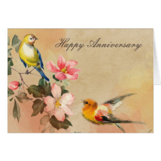 Vintage Anniversary Card at Zazzle