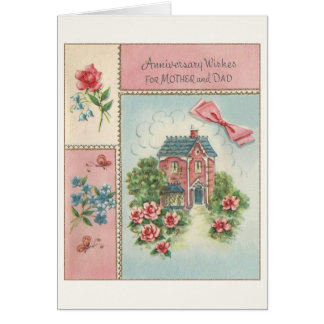Vintage Anniversary Card for Mother and Dad