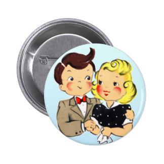 Vintage Anniversary Couple Pinback Button