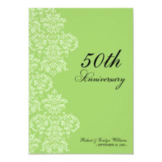 Vintage Anniversary Party Custom Invitation (lime)