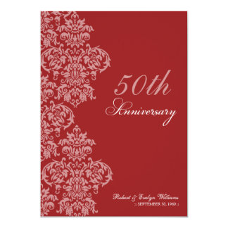 Vintage Anniversary Party Custom Invitation (red)