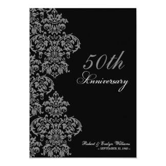 Vintage Anniversary Party Custom Invite (ebony)