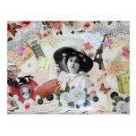 Vintage años 20 de la elegante mujer con sombrero postales
