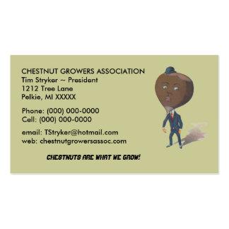Vintage Anthropomorphic Chestnut Man Business Card
