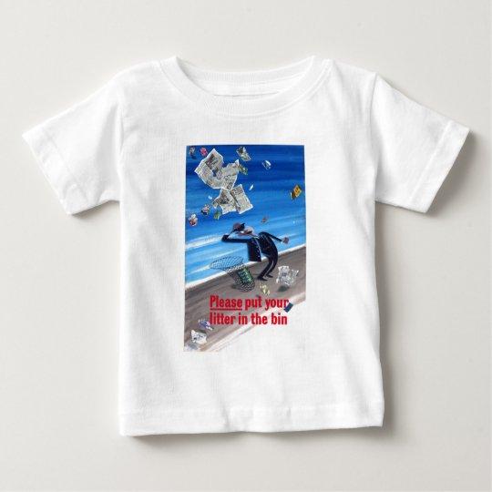 Vintage Anti-Litter Poster Baby T-Shirt