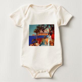 Vintage Antibes Cote D'Azur Travel Bodysuit