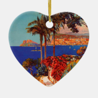 Vintage Antibes Cote D'Azur Travel Ceramic Ornament