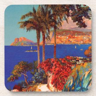 Vintage Antibes Cote D'Azur Travel Coaster