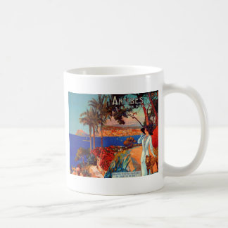 Vintage Antibes Cote D'Azur Travel Coffee Mug